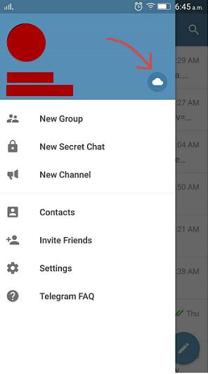 Telegram Cloud Icon. ESCAPE='HTML'