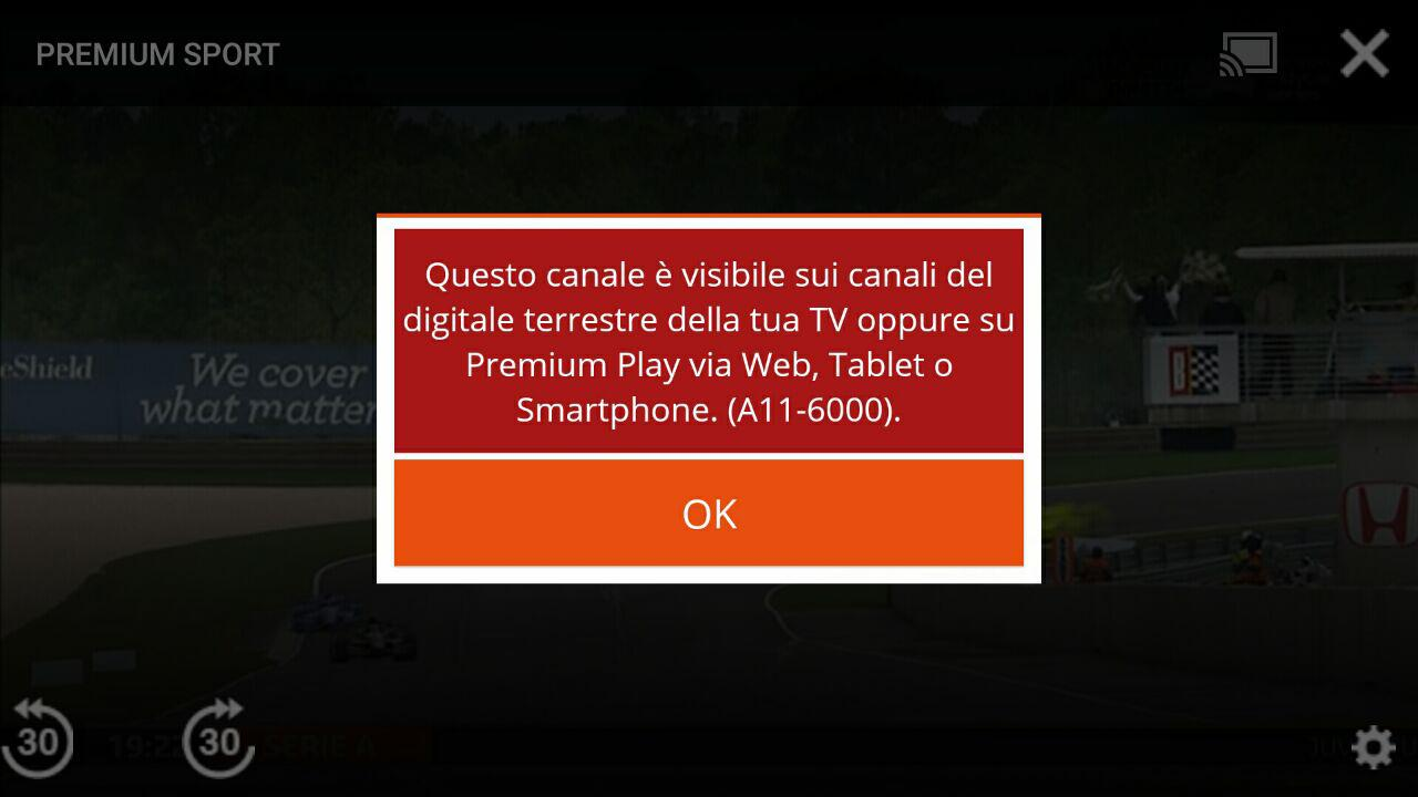 Avviso Ignorabile Premium Play con Chromecast ESCAPE='HTML'